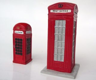 2 Model Post Office Telephone Boxes - One With Stamp Machine & Gr Post Box photo