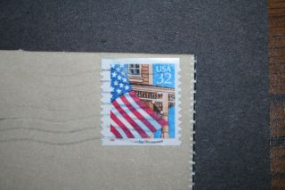 Us Scott 2915a Flag Porch Pnc 66666 11 X 12 Vv/pp Plate Number Coil Full Cover photo