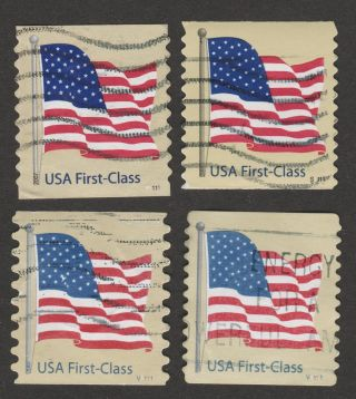 Usa 4132 - 4135,  All With Plate Numbers photo