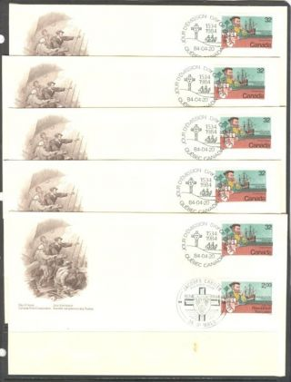 Exploration Cartier Joint Issue With France Canada Fdc photo