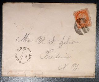 1891 (90) Canada Cover: Fort Erie,  Ontario To Mr U.  S.  Johnson,  Fredonia,  Ny photo
