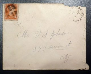 1891 Canada Cover,  Fort Erie,  Ont To Mr U.  S.  Johnson,  379 Main St (buffalo,  Ny) photo