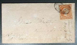 1868 Canada Cover To: Miss Doshet,  Annapolis,  Nova Scotia Via Bridgetown,  Ns photo