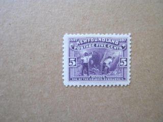 Newfoundland Vf Scott 65 5c