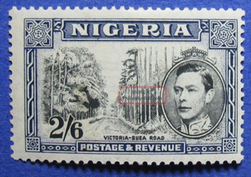 1942 Nigeria 2s6d Scott 63a S.  G.  58ab Cs05902 British Colonies & Territories photo