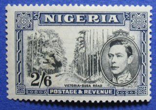 1942 Nigeria 2s6d Scott 63a S.  G.  58ab Cs05902 photo