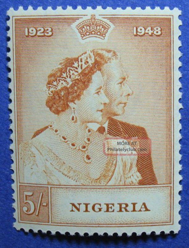 1948 Nigeria 5s Scott 74 S.  G.  63 Nh Cs05912 British Colonies & Territories photo