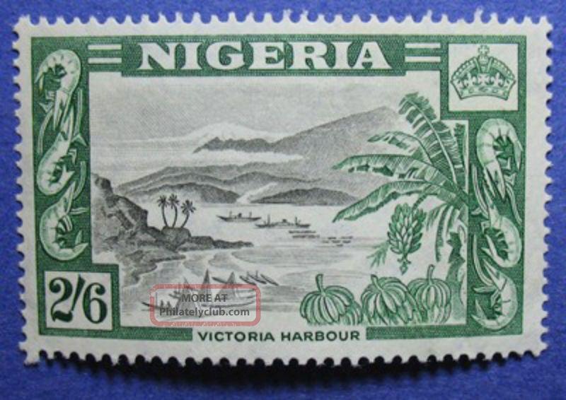 1953 Nigeria 2s6d Scott 88 S.  G.  77 Cs05915 British Colonies & Territories photo