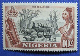 1953 Nigeria 10s Scott 90 S.  G.  79 Cs05918 photo