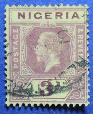 1920 Nigeria 3d Scott 5 S.  G.  5e Cs05942 photo