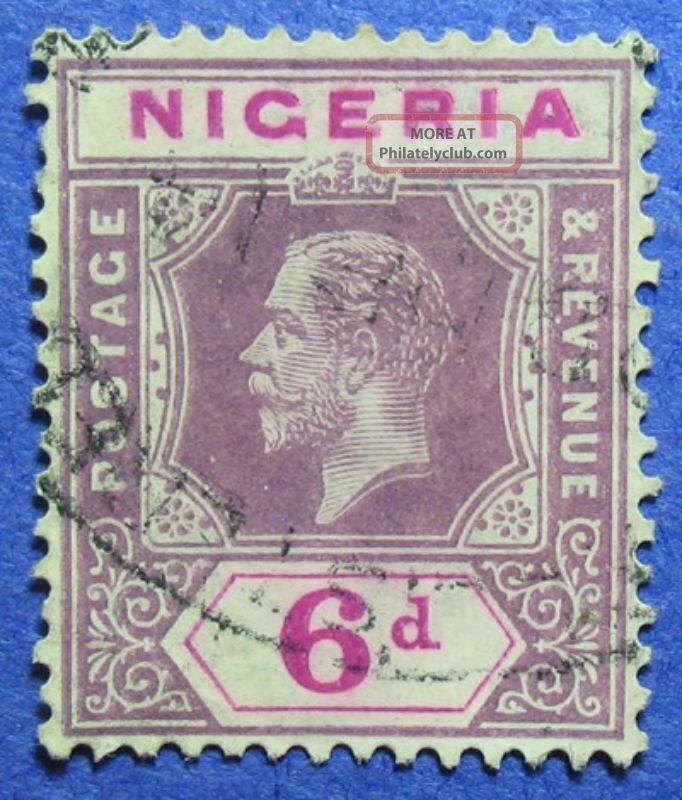 1914 Nigeria 6d Scott 7 S.  G.  7 Cs05944 British Colonies & Territories photo