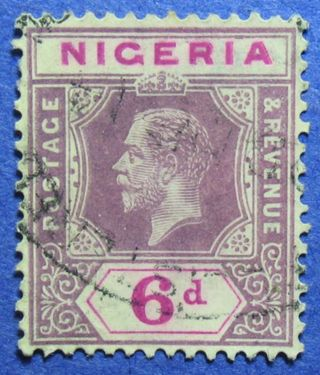 1914 Nigeria 6d Scott 7 S.  G.  7 Cs05944 photo