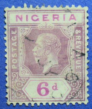 1914 Nigeria 6d Scott 7 S.  G.  7 Cs05945 photo