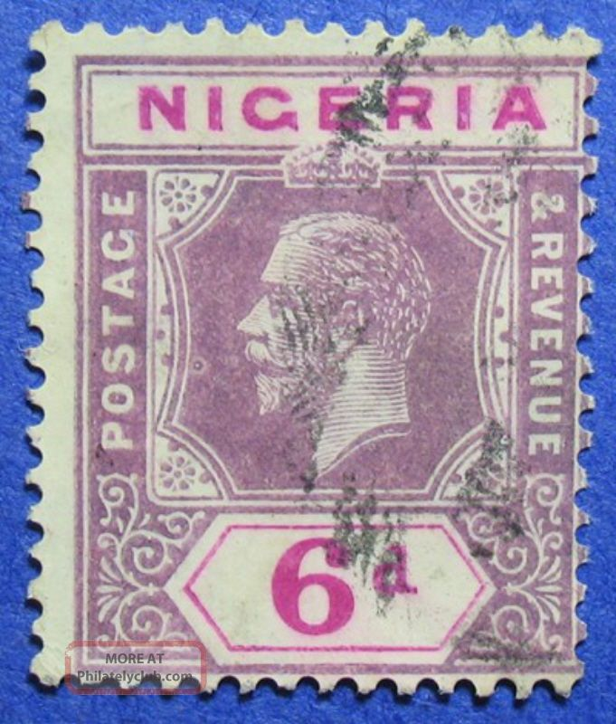 1914 Nigeria 6d Scott 7 S.  G.  7 Cs05946 British Colonies & Territories photo