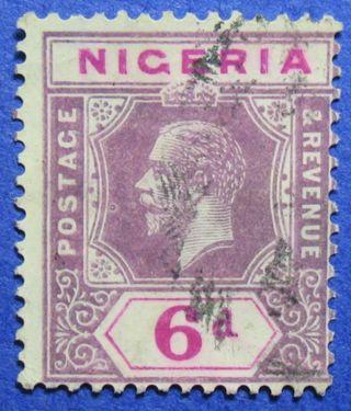 1914 Nigeria 6d Scott 7 S.  G.  7 Cs05946 photo