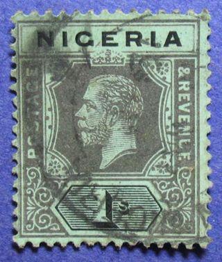 1915 Nigeria 1s Scott 8 S.  G.  8c Cs05948 photo