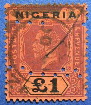 1927 Nigeria 1p Scott 12a S.  G.  12b Cs05950 photo