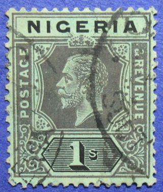 1914 Nigeria 1s Scott 15 S.  G.  8 Cs05952 photo