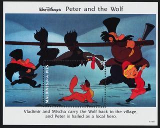 Maldives 1928 Disney,  Peter & The Wolf,  Ivan photo