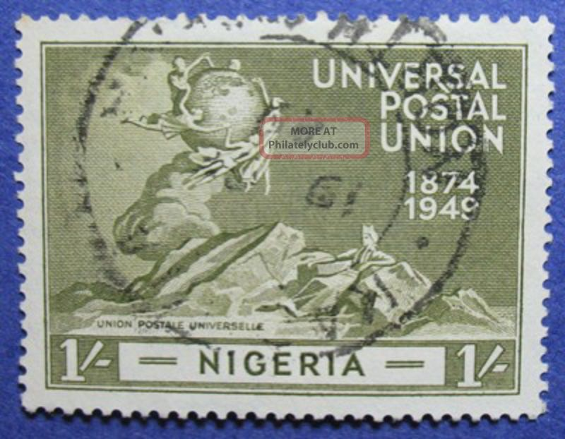 1949 Nigeria 1s Scott 78 S.  G.  67 Cs05984 British Colonies & Territories photo