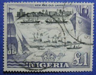 1953 Nigeria 1p Scott 91 S.  G.  80 Cs05987 photo