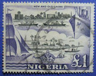 1953 Nigeria 1p Scott 91 S.  G.  80 Cs05988 photo