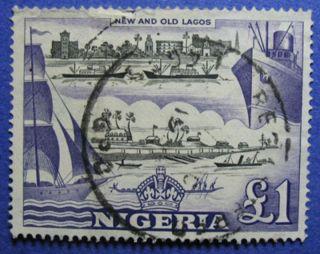 1953 Nigeria 1p Scott 91 S.  G.  80 Cs05989 photo