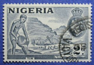 1956 Nigeria 2d Scott 93 S.  G.  72c Cs05990 photo