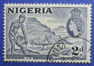 1956 Nigeria 2d Scott 93 S.  G.  72c Cs05991 photo
