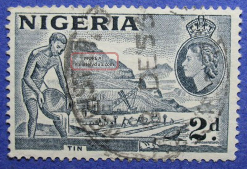 1956 Nigeria 2d Scott 93 S.  G.  72c Cs05992 British Colonies & Territories photo