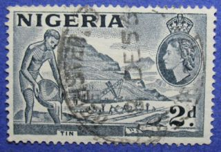 1956 Nigeria 2d Scott 93 S.  G.  72c Cs05992 photo
