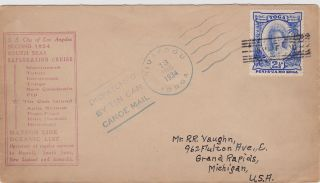 Tonga : Tin Can Canoe Mail Cover,  S.  S.  City Of Los Angeles Cruise Cachet (1934) photo