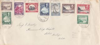 Bermuda : Geo V Pictorial Issue First Day Cover,  ½d - 1/6d (1936) photo