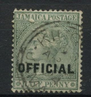 Jamaica 1890 - 1 Sg O3,  1/2d Green Qv Official A61856 photo