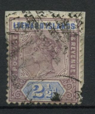 Leeward Islands 1890 Sg 3,  2.  5d Dull Mauve & Blue Qv On Piece A61864 photo