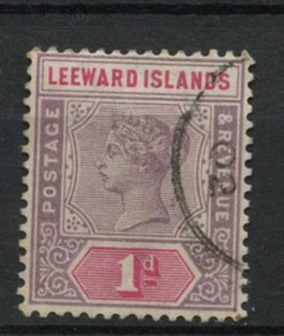 Leeward Islands 1890 Sg 2,  1d Dull Mauve & Rose Qv A61863 photo