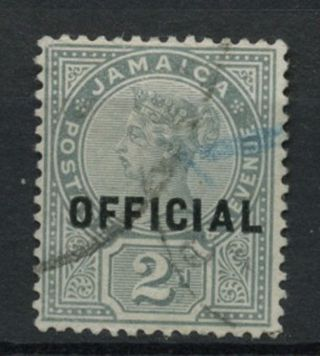 Jamaica 1890 - 1 Sg O5,  2d Grey Qv Official A61859 photo