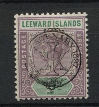 Leeward Islands 1897 Sg 9,  1/2d Qv Diamond Jubilee Mh A61871 photo