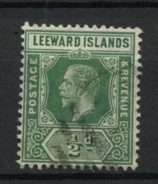 Leeward Islands 1912 - 22 Sg 47,  1/2d Green Kgv A61884 photo