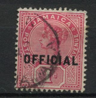 Jamaica 1890 - 1 Sg O4,  1d Rose Qv Official A61858 photo