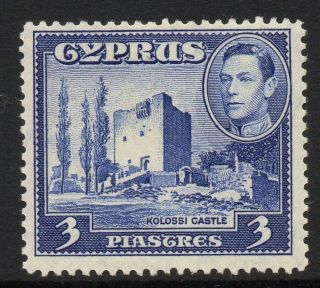 Cyprus Sg156a 1942 3pi Ultramarine Mtd photo