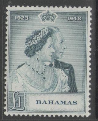 Bahamas Sg195 1948 Rsw £1 photo