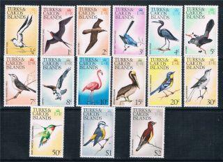 Turks & Caicos 1973 Bird Definitives Sg 381/95 photo