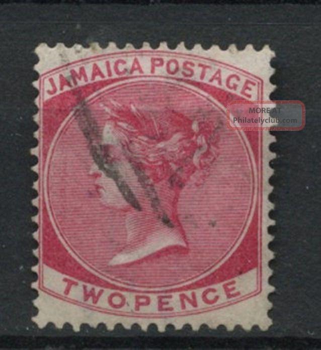 Jamaica 1870 - 83 Sg 9,  2d Rose Qv Wmk Cc A61845 British Colonies & Territories photo