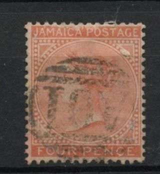 Jamaica 1870 - 83 Sg 11a 4d Orange Qv Wmk Cc A61847 photo