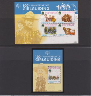 Grenadines Of Grenada 2010 Issue Of 100th Ann.  Girl Guiding Sheet Of 4 & S/s photo