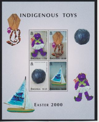 Anguilla Indigenous Toys Sheet Of 4 Scott 1016 photo