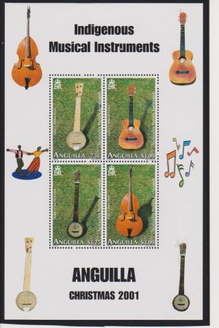 Anguilla Indigenous Musical Instruments Sheet Of 4 Scott 1066 photo
