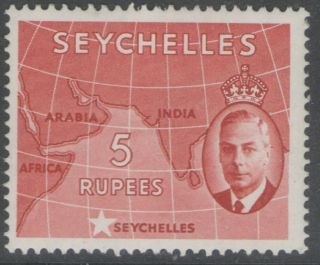 Seychelles Sg171 1952 5r Red photo