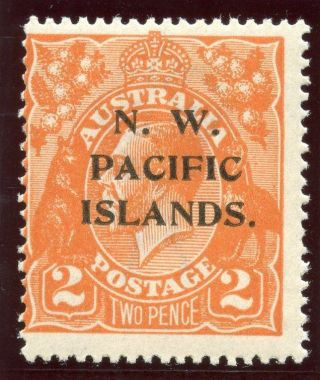 Guinea 1921 Kgv 2d Orange Mlh.  Sg 121.  Sc 43. photo